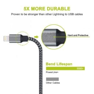 iPhone/iPad extended, long charging cable